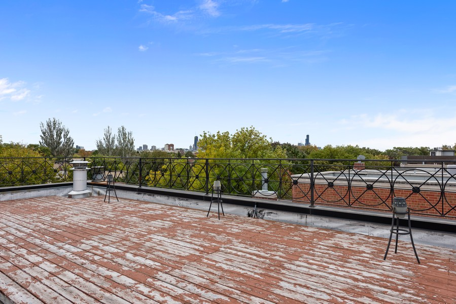 Real Estate Photography - 2720 N Bosworth, Chicago, IL, 60614 - Roof Deck