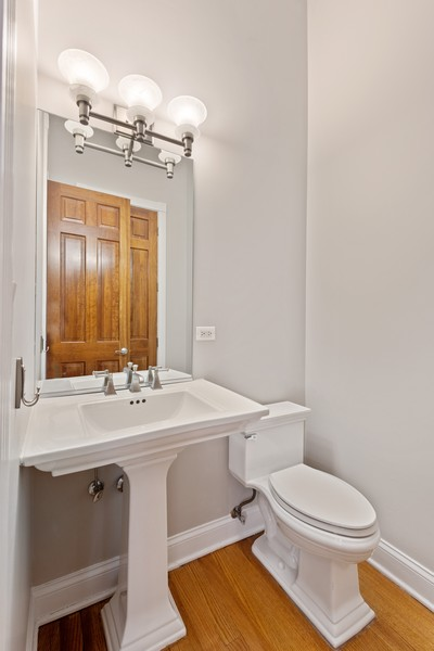 Real Estate Photography - 2720 N Bosworth, Chicago, IL, 60614 - Powder Room