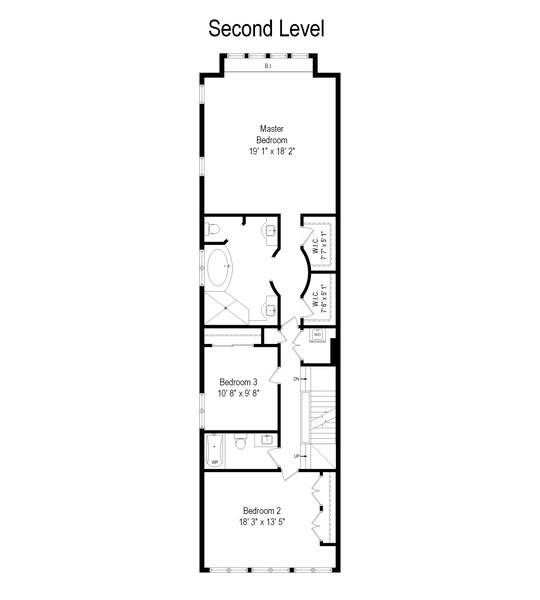 Real Estate Photography - 2720 N Bosworth, Chicago, IL, 60614 - Floor Plan