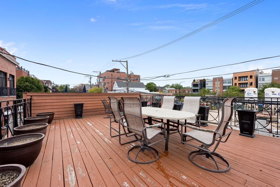 Real Estate Photography - 2720 N Bosworth, Chicago, IL, 60614 - Garage Roof Deck
