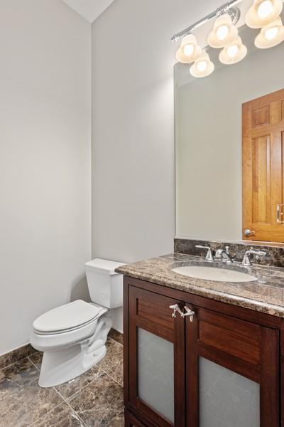 Real Estate Photography - 2720 N Bosworth, Chicago, IL, 60614 - Half Bath