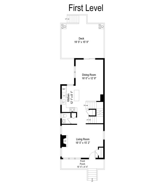 Real Estate Photography - 1809 W Eddy, Chicago, IL, 60657 - Floor Plan
