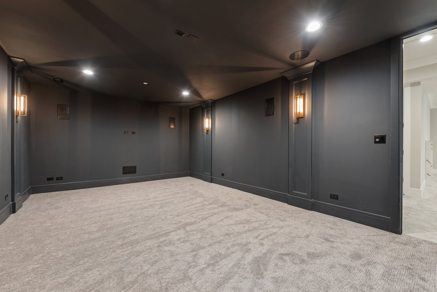 Real Estate Photography - 901 Bluff Rd, Glencoe, IL, 60022 - Media Room