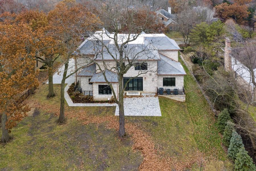 Real Estate Photography - 901 Bluff Rd, Glencoe, IL, 60022 - Backyard Aerial