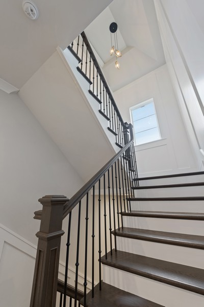 Real Estate Photography - 901 Bluff Rd, Glencoe, IL, 60022 - Staircase
