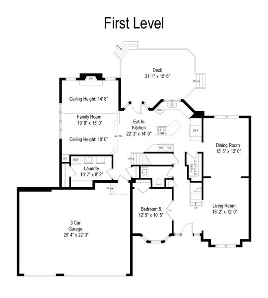 Real Estate Photography - 915 Burnham Court, Aurora, IL, 60502 - Floor Plan