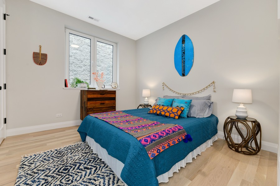 Real Estate Photography - 2721 W Haddon, 3W, Chicago, IL, 60622 - Bedroom