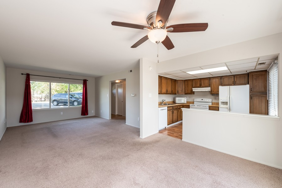 Real Estate Photography - 367 E 59Th Place, Merriville, IN, 46410 - Living Room / Dining Room