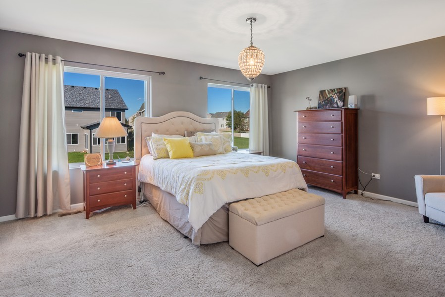 Real Estate Photography - 1503 Ascot Street, Joliet, IL, 60431 - Master Bedroom