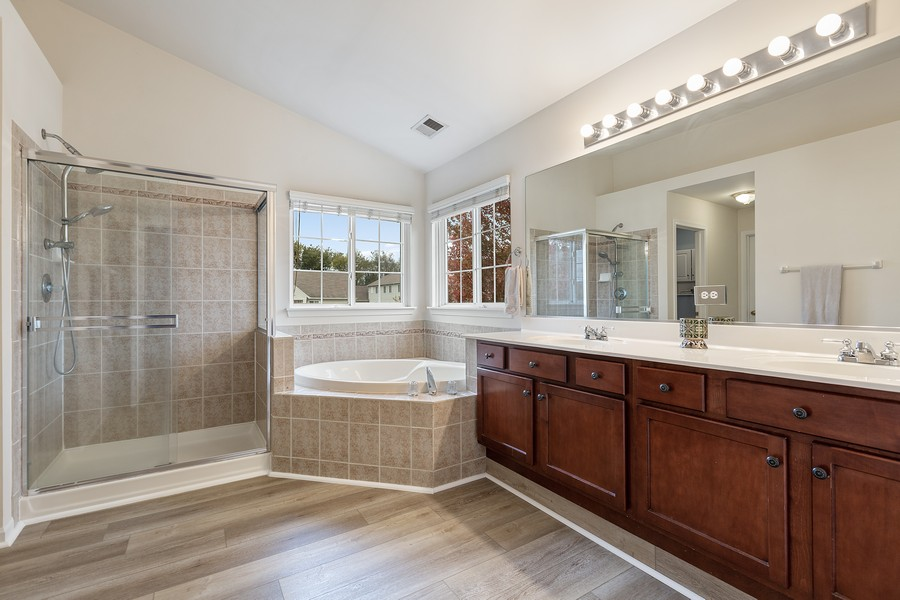 Real Estate Photography - 1300 Mulberry, Cary, IL, 60013 - Master Bathroom