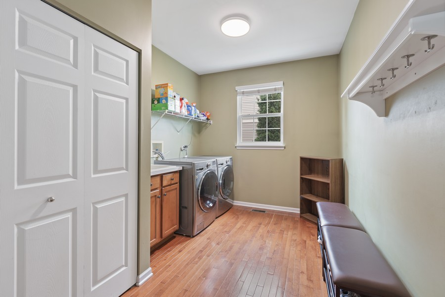 Real Estate Photography - 1300 Mulberry, Cary, IL, 60013 - Laundry/mudroom