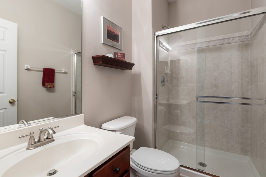 Real Estate Photography - 1300 Mulberry, Cary, IL, 60013 - Main Floor Bath