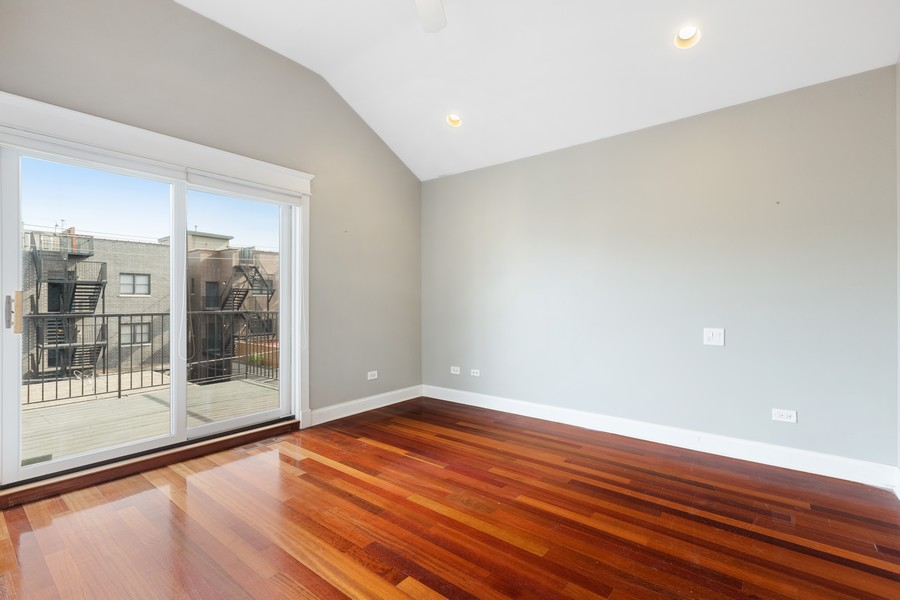 Real Estate Photography - 3231 N Racine, Unit 3, Chicago, IL, 60657 - Master Bedroom