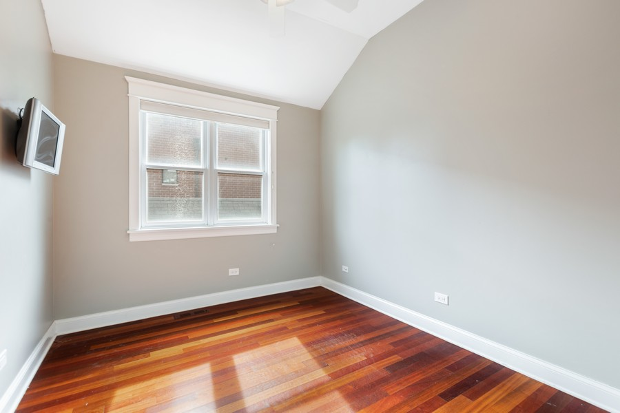 Real Estate Photography - 3231 N Racine, Unit 3, Chicago, IL, 60657 - Bedroom