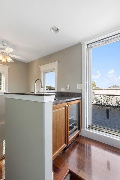 Real Estate Photography - 3231 N Racine, Unit 3, Chicago, IL, 60657 - Bar
