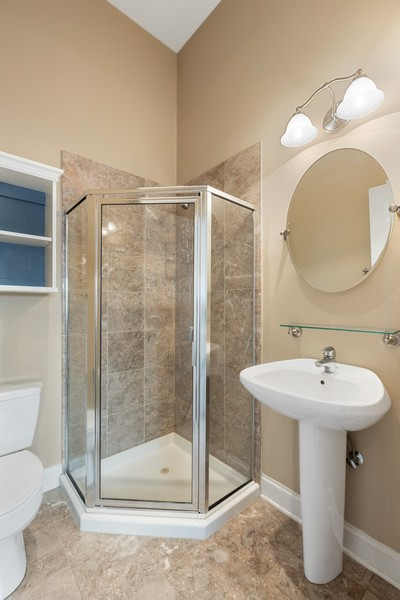 Real Estate Photography - 3231 N Racine, Unit 3, Chicago, IL, 60657 - Bathroom