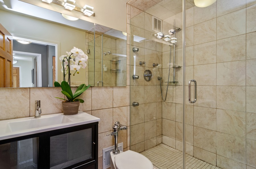 Real Estate Photography - 2800 N. Lake Shore Drive, Unit 1716, Chicago, IL, 60657 - Master Bathroom