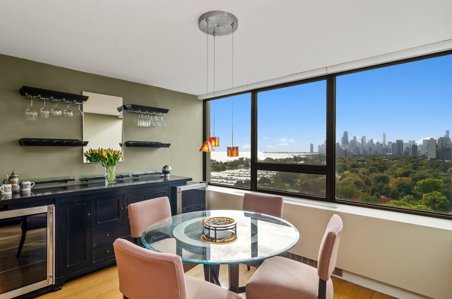 Real Estate Photography - 2800 N. Lake Shore Drive, Unit 1716, Chicago, IL, 60657 - Dining Room