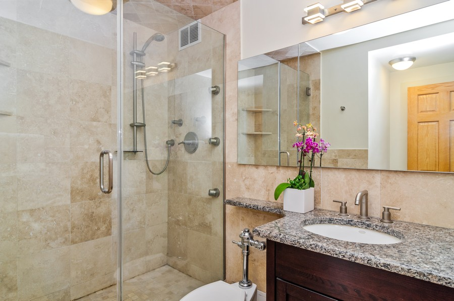 Real Estate Photography - 2800 N. Lake Shore Drive, Unit 1716, Chicago, IL, 60657 - Guest Bathroom