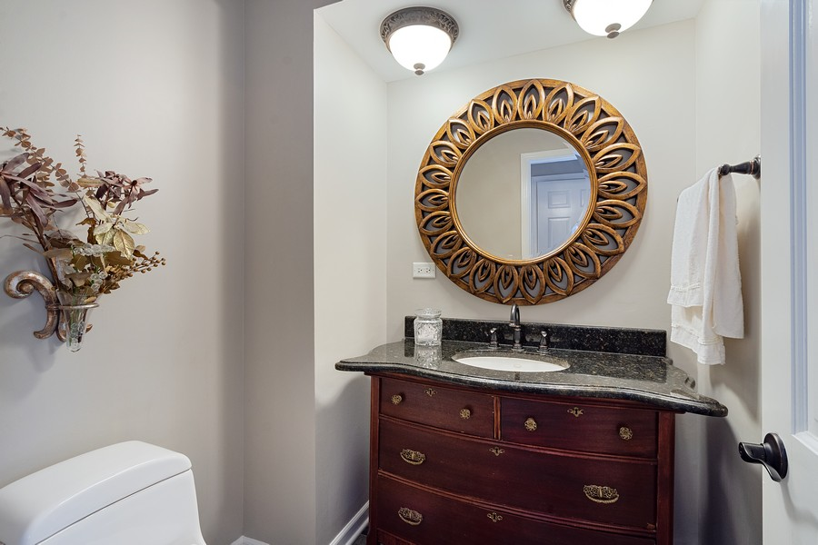 Real Estate Photography - 108 Fox Hunt Trl, Barrington, IL, 60010 - Powder Room