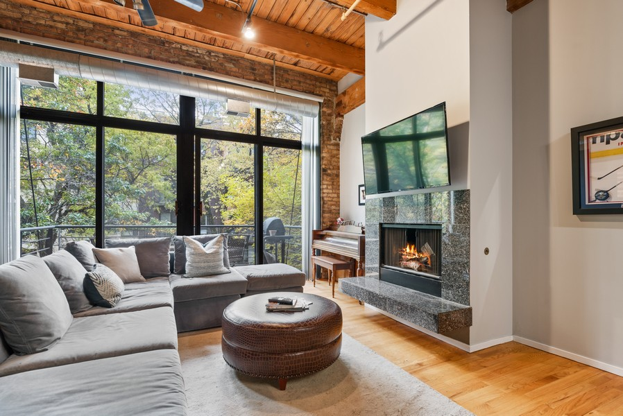 Real Estate Photography - 2300 W Wabansia, Unit 220, Chicago, IL, 60647 - Living Room