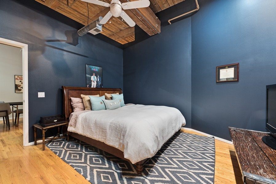 Real Estate Photography - 2300 W Wabansia, Unit 220, Chicago, IL, 60647 - Master Bedroom