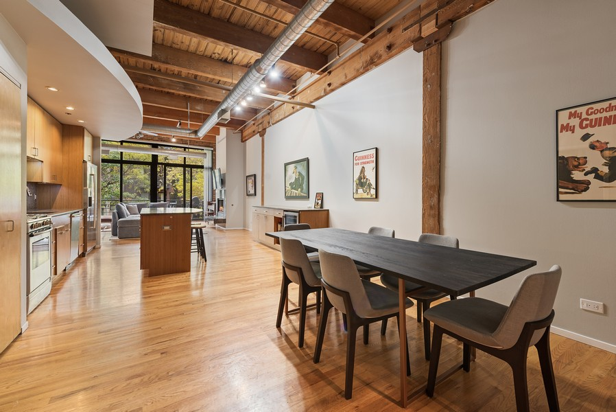 Real Estate Photography - 2300 W Wabansia, Unit 220, Chicago, IL, 60647 - Dining Area 2