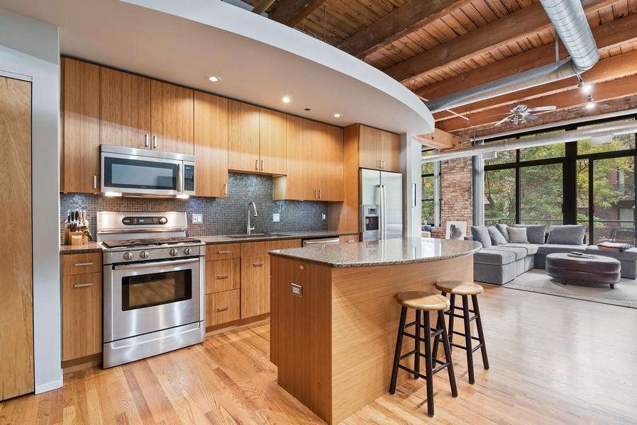 Real Estate Photography - 2300 W Wabansia, Unit 220, Chicago, IL, 60647 - Kitchen