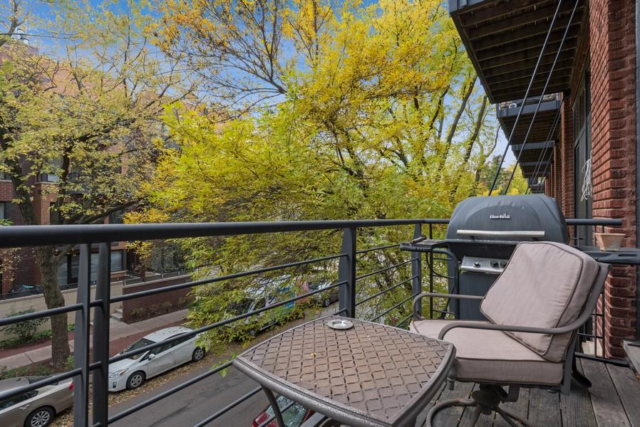 Real Estate Photography - 2300 W Wabansia, Unit 220, Chicago, IL, 60647 - Balcony
