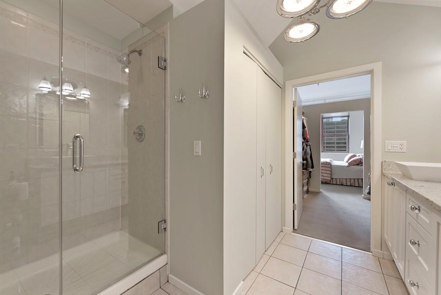Real Estate Photography - 360 W Illinois Street, Apt 9D, Chicago, IL, 60654 - Master Bathroom