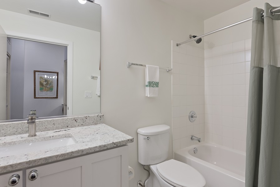 Real Estate Photography - 360 W Illinois Street, Apt 9D, Chicago, IL, 60654 - 2nd Bathroom