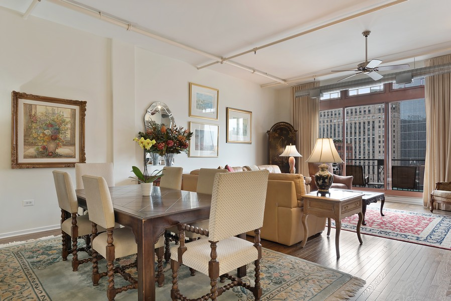 Real Estate Photography - 360 W Illinois Street, Apt 9D, Chicago, IL, 60654 - Living Room / Dining Room