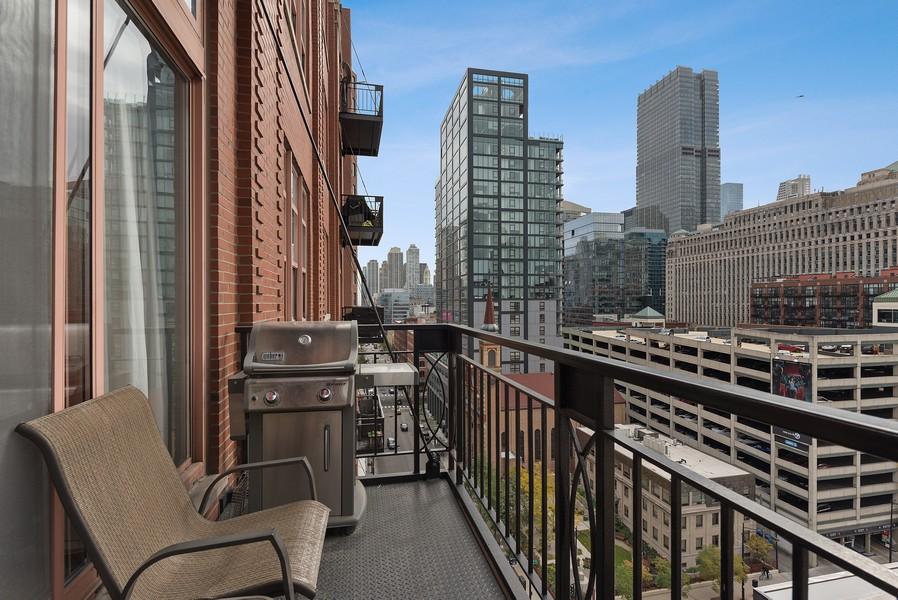 Real Estate Photography - 360 W Illinois Street, Apt 9D, Chicago, IL, 60654 - Balcony