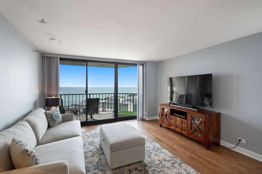 Real Estate Photography - 3660 N. Lake Shore Drive, Unit 3903, Chicago, IL, 60613 - Living Room