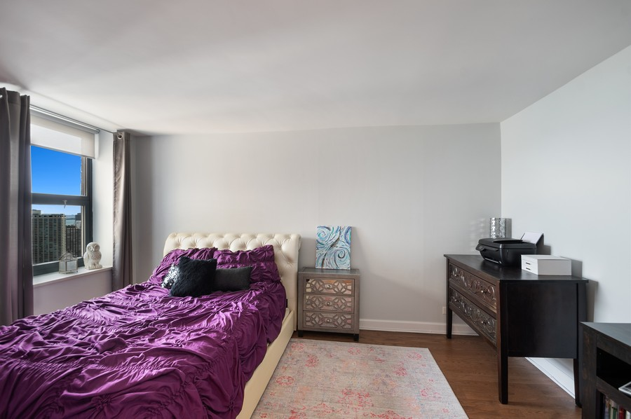 Real Estate Photography - 3660 N. Lake Shore Drive, Unit 3903, Chicago, IL, 60613 - Bedroom