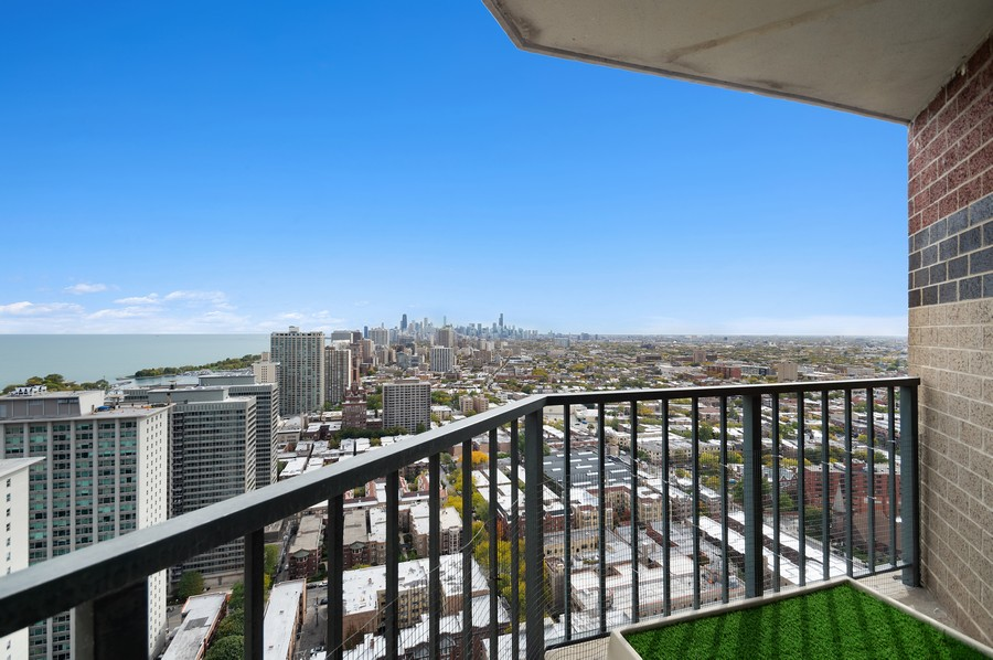 Real Estate Photography - 3660 N. Lake Shore Drive, Unit 3903, Chicago, IL, 60613 - Balcony