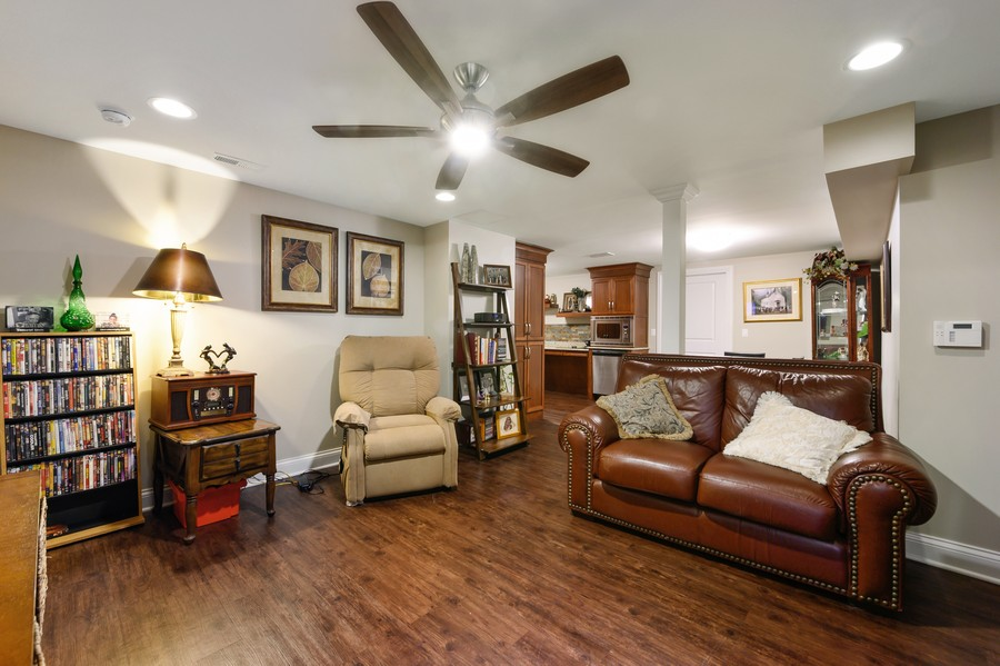 Real Estate Photography - 4425 Oakwood Ave, Downers Grove, IL, 60515 - Handicapped Accessible Multi Gen Living Room