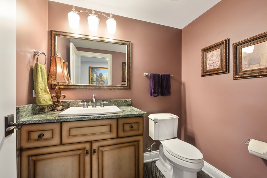 Real Estate Photography - 4425 Oakwood Ave, Downers Grove, IL, 60515 - Basement Powder