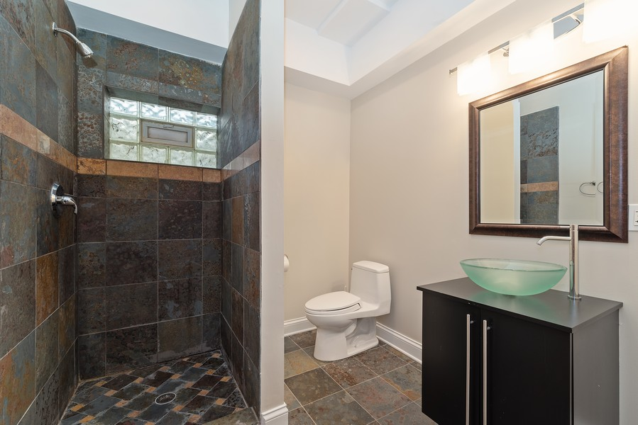 Real Estate Photography - 1406 E Lake Ave, Glenview, IL, 60025 - Basement Bathroom