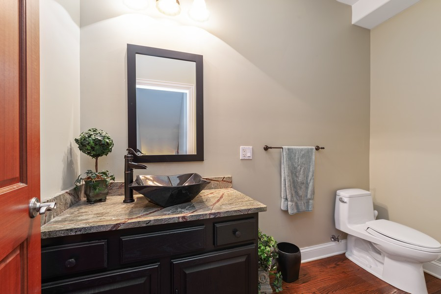 Real Estate Photography - 1406 E Lake Ave, Glenview, IL, 60025 - Powder Room