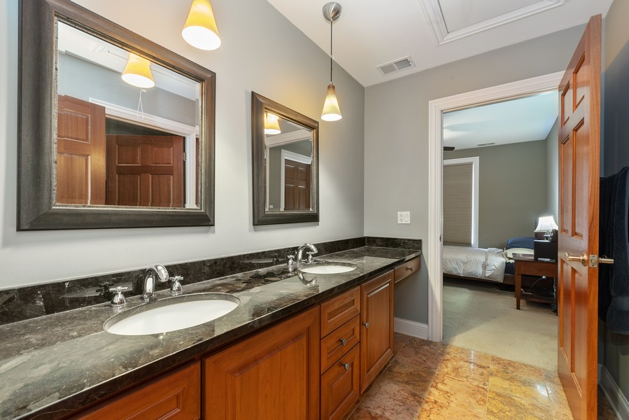 Real Estate Photography - 1406 E Lake Ave, Glenview, IL, 60025 - Hall Bathroom