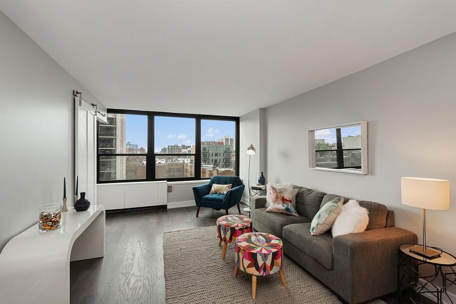 Real Estate Photography - 1560 N Sandburg Terr #709, Chicago, IL, 60610 - Living Room
