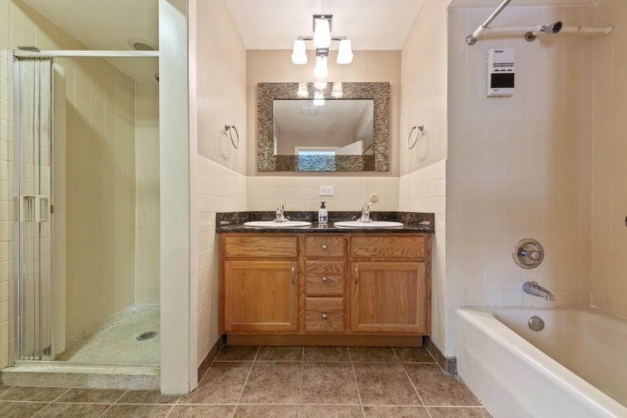 Real Estate Photography - 447 S. York St, Elmhurst, IL, 60126 - Master Bathroom