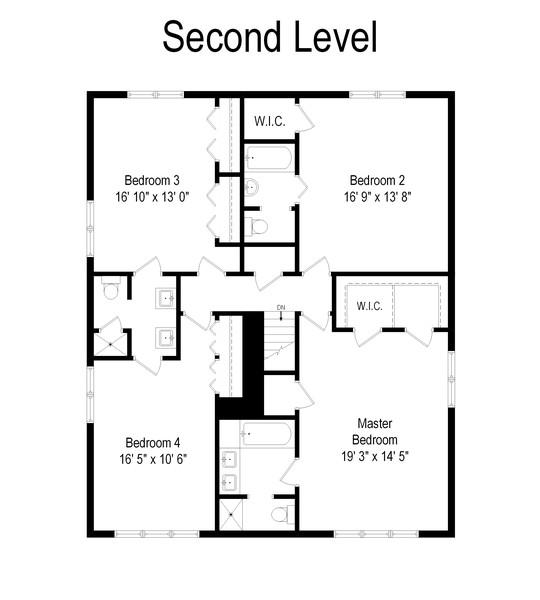 Real Estate Photography - 447 S. York St, Elmhurst, IL, 60126 - Floor Plan