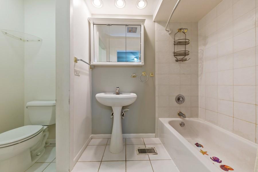 Real Estate Photography - 447 S. York St, Elmhurst, IL, 60126 - 2nd Bathroom
