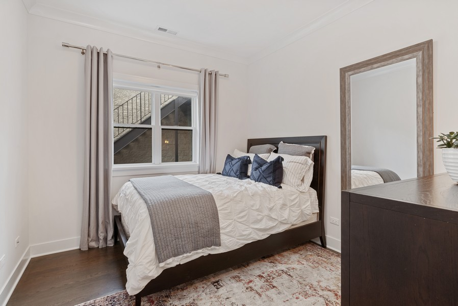 Real Estate Photography - 3645 N Damen Ave #3, Chicago, IL, 60618 - 2nd Bedroom