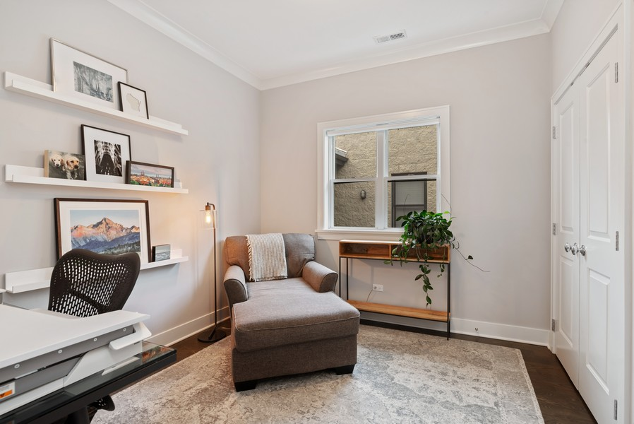 Real Estate Photography - 3645 N Damen Ave #3, Chicago, IL, 60618 - 3rd Bedroom