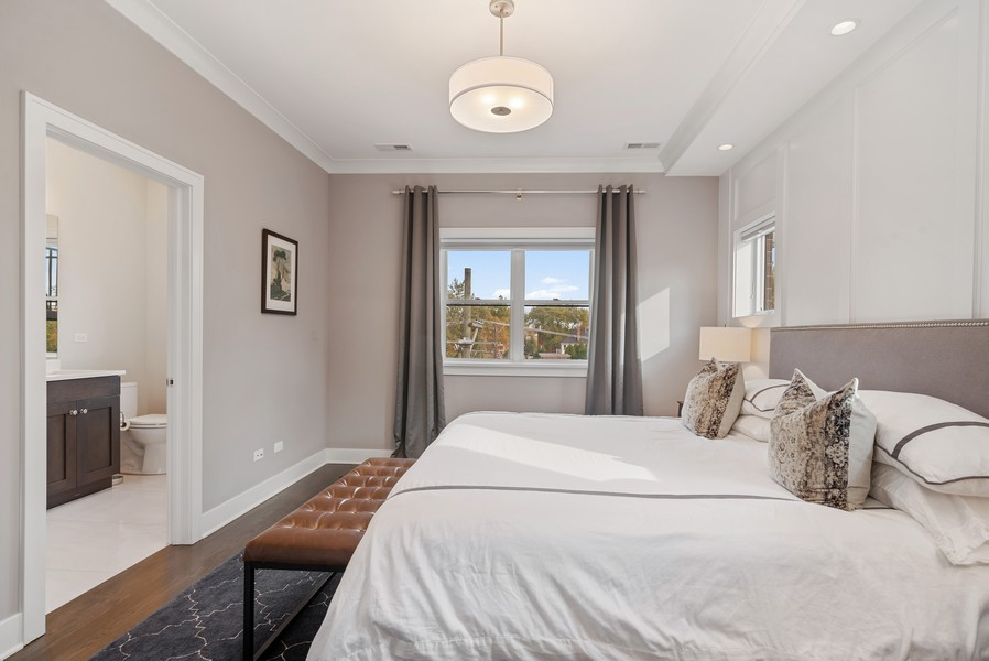 Real Estate Photography - 3645 N Damen Ave #3, Chicago, IL, 60618 - Master Bedroom