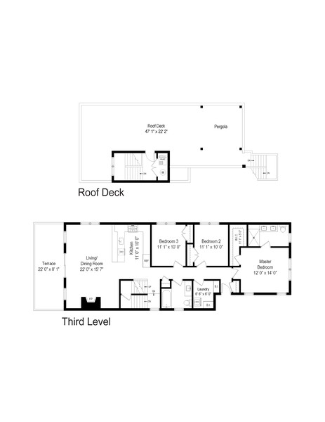 Real Estate Photography - 3645 N Damen Ave #3, Chicago, IL, 60618 - Floor Plan