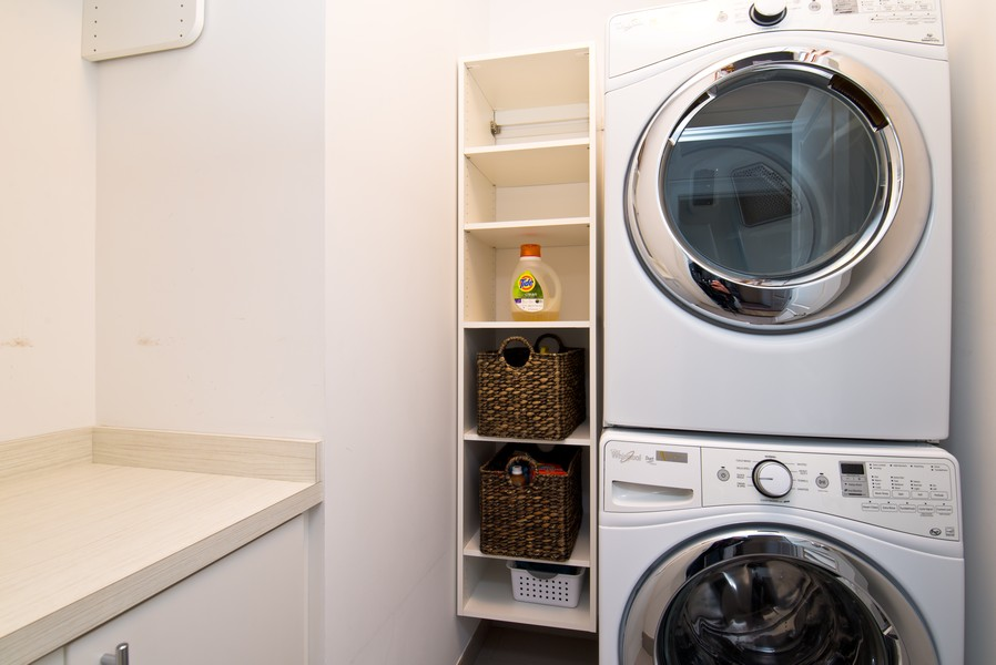 Real Estate Photography - 3645 N Damen Ave #3, Chicago, IL, 60618 - Laundry Room